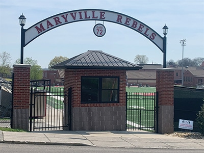 Maryville rebels sign outside of Maryville high school